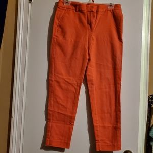 Coral Cropped Pants